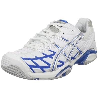 ASICS Women's GEL-Challenger Tennis Shoe,White/Maui Blue/Silver,8.5 M