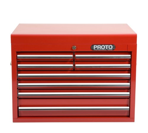 Stanley Proto J442719-8RD 440SS 27-Inch Top Chest, 8 Drawer, Red (Stanley Garage Cabinets compare prices)
