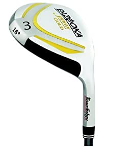 Tour Edge Men's JMAX Gold #3 Fairway Wood (Left Hand, JMAX Gold Graphite, Regular, 16 degrees, 43 inches)
