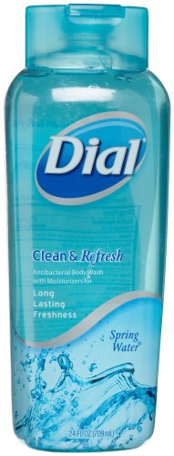 Dial Clean & Refresh Body Wash, Spring water, 21-Ounce Bottles (Pack of 3)