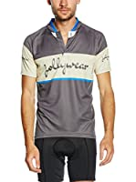 JOLLYWEAR Maillot Ciclismo Vintage (Gris / Azul)