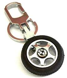 Glow Time BMW Wheel Keychain - (8cmL x 6cmB, Silver)