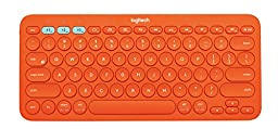 Logitech K380 Multi-Device Bluetooth Keyboard (Orange)