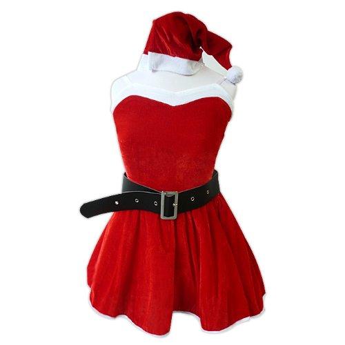 Xmas クリスマスサンタ コスプレ4点セットsd016