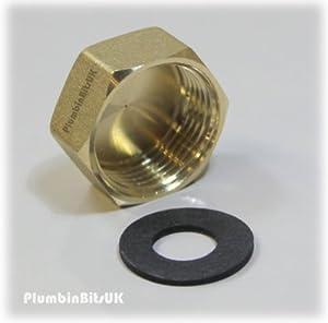 "3/4"" Brass Washing Machine Blanking Cap"