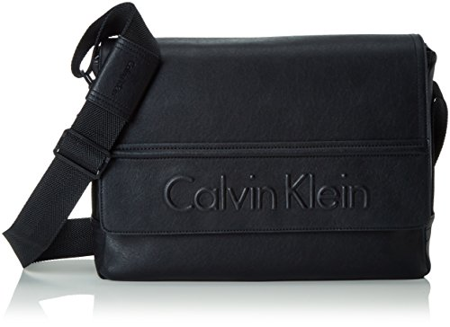Calvin Klein Jeans Speed Messenger with Flap, Borsa a Tracolla Uomo, Nero (Black 001 001), 31x40x10 cm (B x H x T)