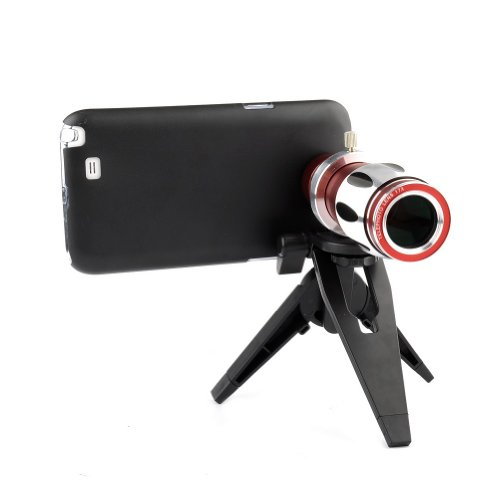 Neewer® 17X Optical Zoom Aluminum Telephoto Telescope Camera Lens + Tripod + Case For Samsung Note Ii N7100