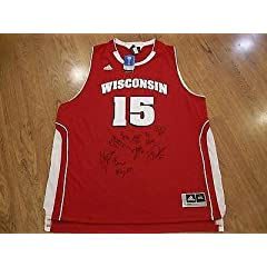 WISCONSIN BADGERS 2013-2014 TEAM signed autographed JERSEY w COA! FINAL FOUR -...