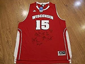 WISCONSIN BADGERS 2013-2014 TEAM signed autographed JERSEY w COA! FINAL FOUR -... by Sports Memorabilia