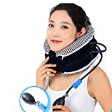 No1 Neck Traction Device + Washable Cover CHISOFT (3rd Edition) Neck Stretcher - Doctors Recommended Neck Pain Relief Unit, Helps Correct Posture