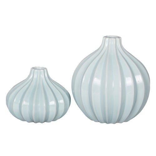 Vase Luana - 2er Set - hellblau - Keramik - broste Copenhagen