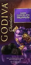 Godiva Gems Dark Chocolate Truffles – 4oz