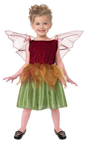 Living Fiction Autumn Fairy Girls 2pc Toddler Costume Green|Maroon