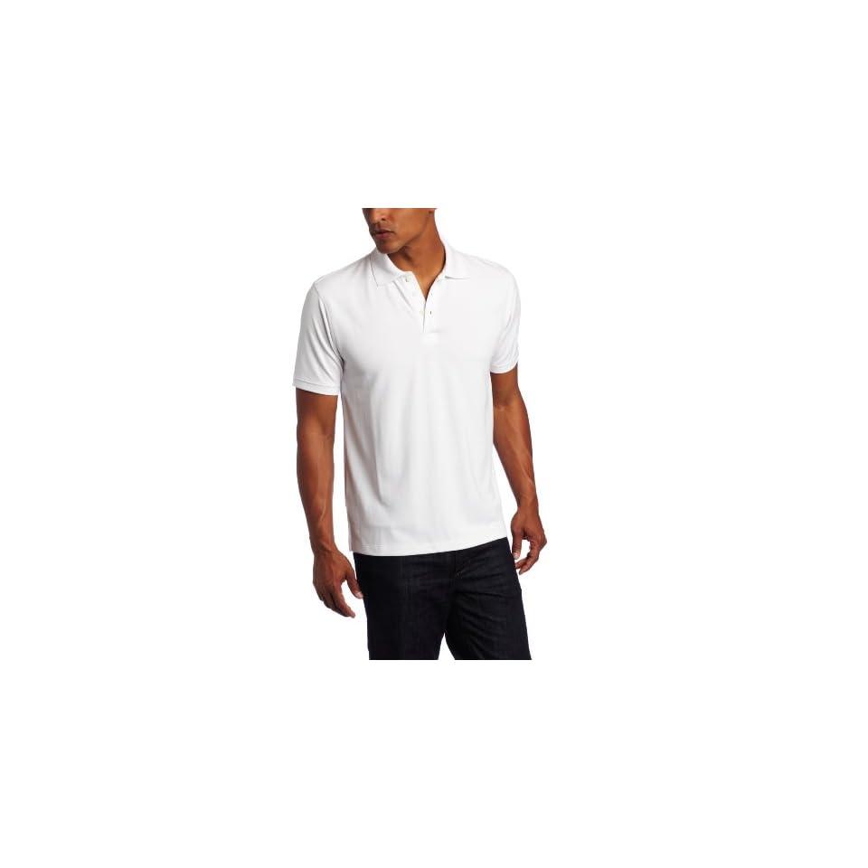 AXIS Mens Nailshead Polo Shirt, Bright White, Small
