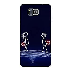 Heaven Couple Back Case Cover for Galaxy Alpha