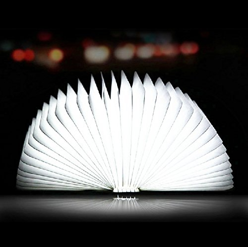 Creative Book Shape USB Gadget Home Decoration Xmas Gift Rechargeable USB LED Night Light(white)