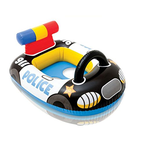 Black Infants Children Cartoon American Police Car Seat Swimming Ring front-20935