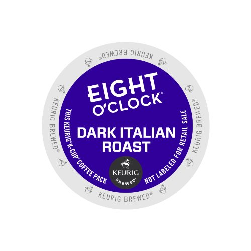 Eight O'Clock Coffee Dark Italian Roast, Keurig K-Cups, 72 K-Cup Packs