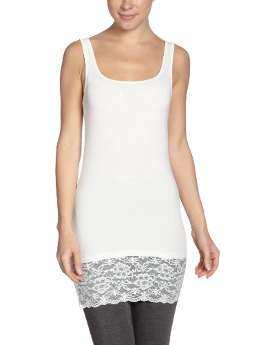 Vero Moda - Gilet, colletto tondo, senza maniche, donna, Bianco (Weiß_A (Snow White)), L