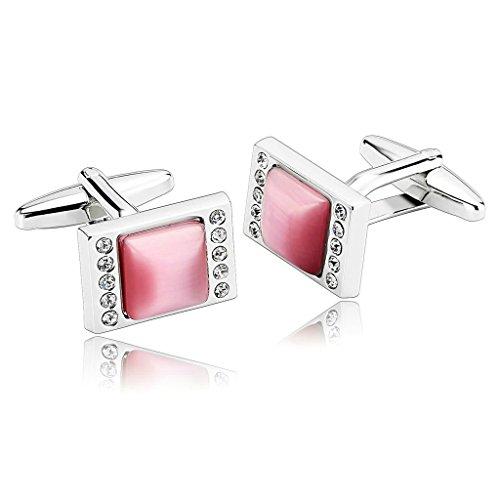 epinki-homme-rectangle-finition-brossee-deux-rangee-de-zircon-cubique-argent-rose-boutons-de-manchet