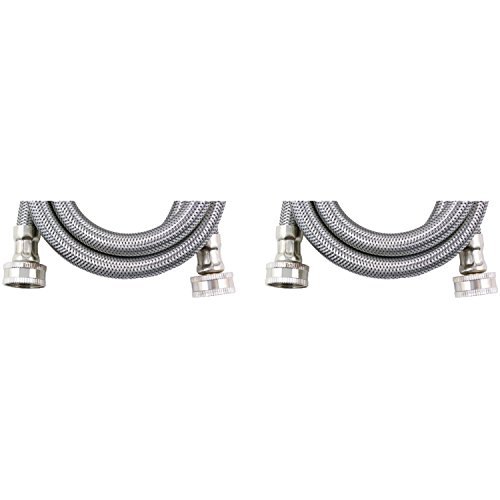 """Certified Appliance WM72SS2PK Braided Stainless Steel Washing Machine Connector (Pack of 2), 72"""""""