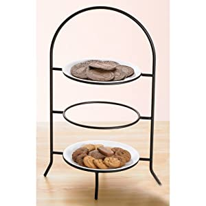 Creative Home 73045 3-Tier Dinner Plate Rack, 17-Inch by Creative Home