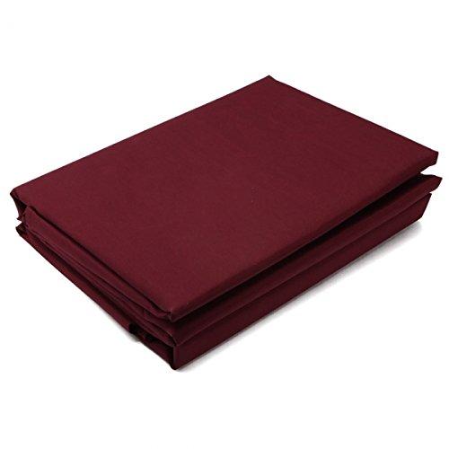"""4Pc Microfiber Bedding Sheet Set For Full (81"""" X 94"""")Burgundy 13005933 front-379512"""