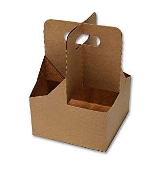 "LBP Manufacturing 29530 4-Cup Jumbo Drink Carrier, 7-1/4"" Length x 7-1/4"" Width x 10-1/4"" Height (Case of 200)"