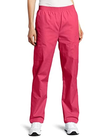Dickies Scrubs Women's Petite Elastic Waist Pant, Hot Pink, X-Small