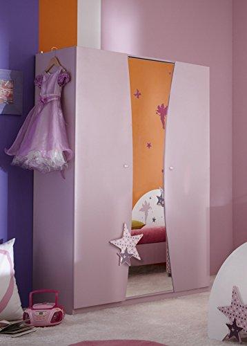 Demeyere-299407-Kleiderschrank-3-Trig-und-1-Spiegel-FEE-1345-x-183-x-50-cm-rosa