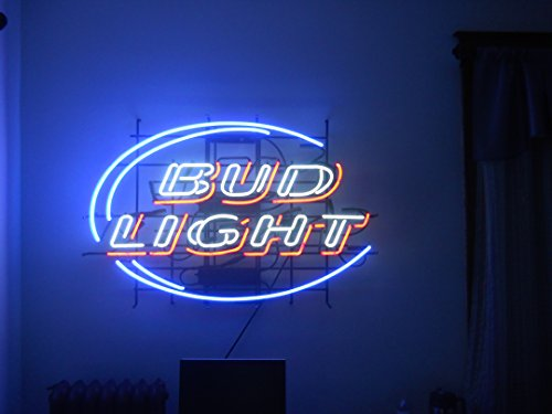New Bud Light Hand-made Beer Bar Pub Store Garage Real Glass Neon Light Sign