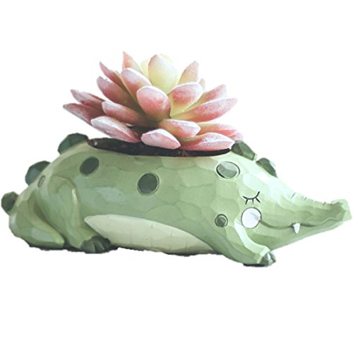LightningStore Cute Green Alligator Crocodile Dinosaur Unicorn Blue Elephant Whale White Duck Succulent Plants Personalized Office House Balcony Landscape Creative Decorative Flower Pots