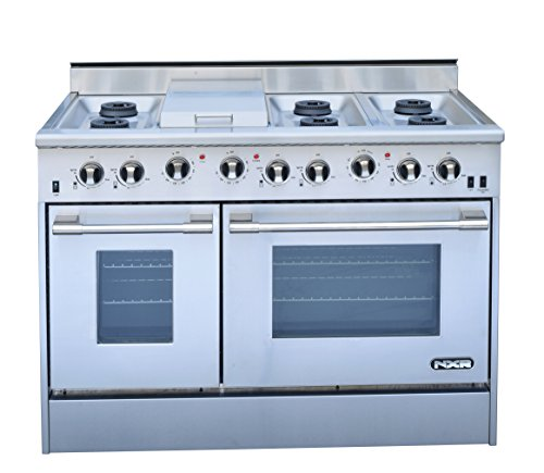 NXR-DRGB4801-Professional-Style-Gas-Range-48-Stainless-Steel