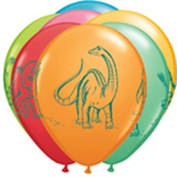 Dinousaur Dino Latex Balloon Assortment (6) by Balloon Emporium - 1