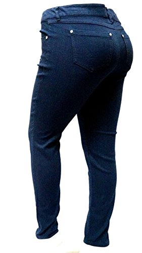 1826 DARK BLUE denim jeans HIGH WAIST WOMENS PLUS SIZE pants SKINNY LEG PL-880