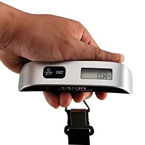 Camry 110lbs Luggage Scale with Temperature Sensor and Tare Function Without Backlight, Gift for Traveler