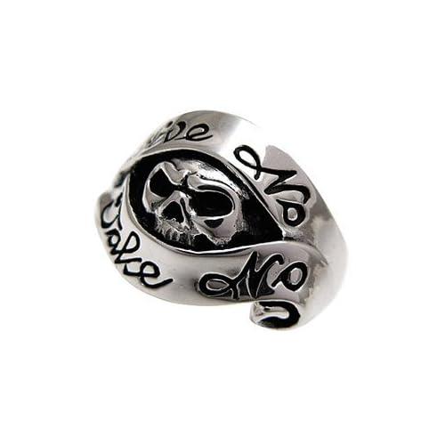 ドクロ スカルリング シルバーリング メンズ 指輪 メンズリング r0470 【11号】