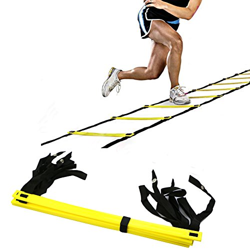 Lifetop 5-Rung Agility Ladder For Soccer Speed Football Fitness Feet Training New