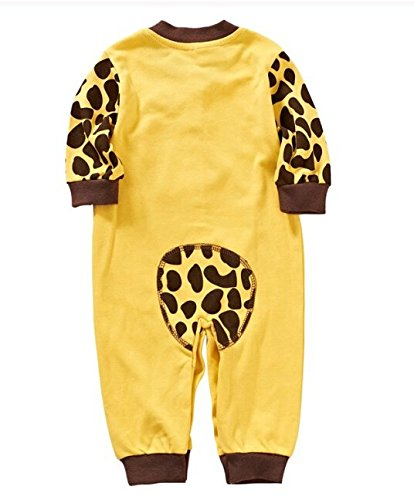 Cute Newborn Infant Girl Boy Long Sleeve Romper Clothes Pajamas Nightwear (70(0-3Months), Yellow ground)