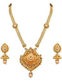 Sitashi Beautiful Imitation Jewellery Ethenic Antique Long Necklace Set For Girls And Women