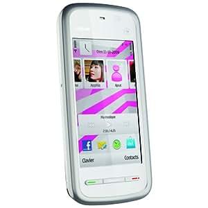 "Nokia 5230 Téléphone portable Bibande Ecran tactile 3,2"" Appareil photo 2 Mpix Bluetooth / EDGE Blanc / Argent"