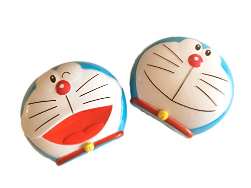 Cute Cartoon Blue Doraemon Contact Lens Case/ Contact Lens Box/lenses Care Box 2pcs