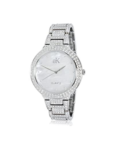 Adee Kaye Women's AK23-L/CR Perlas Collection Mother-of-Pearl, Crystal & Brass Watch