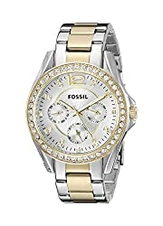 Fossil Riley Analog Silver Dial Womens Watch - ES3204