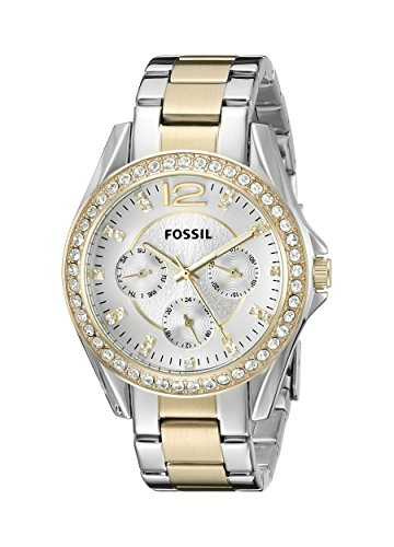 Fossil Women's ES3204 Riley Silver and Gold Tone