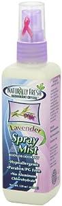 Naturally Fresh Deodorant, Spray Mist, Lavender, 4-Ounce Bottles (Pack of 6)