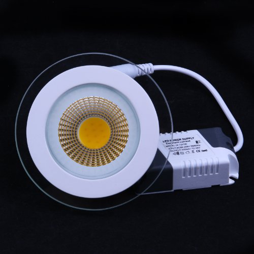 Bloomwin- 6Pcs/Pack Cob Led Panel Ceiling Light 5W Round Frosted Cool White 120 Degrees Beam Angle