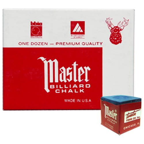 One Dozen Blue Master Pool Cue Chalk