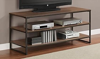 Elements Grey Oak Entertainment Media Center 50 inch flat screen TV Stand
