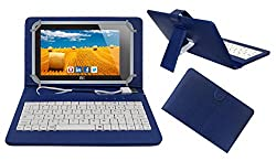 ACM PREMIUM USB KEYBOARD TABLET CASE HOLDER COVER FOR HCL ME CONNECT 3G 2.0 Y4 With Free MICRO USB OTG - BLUE